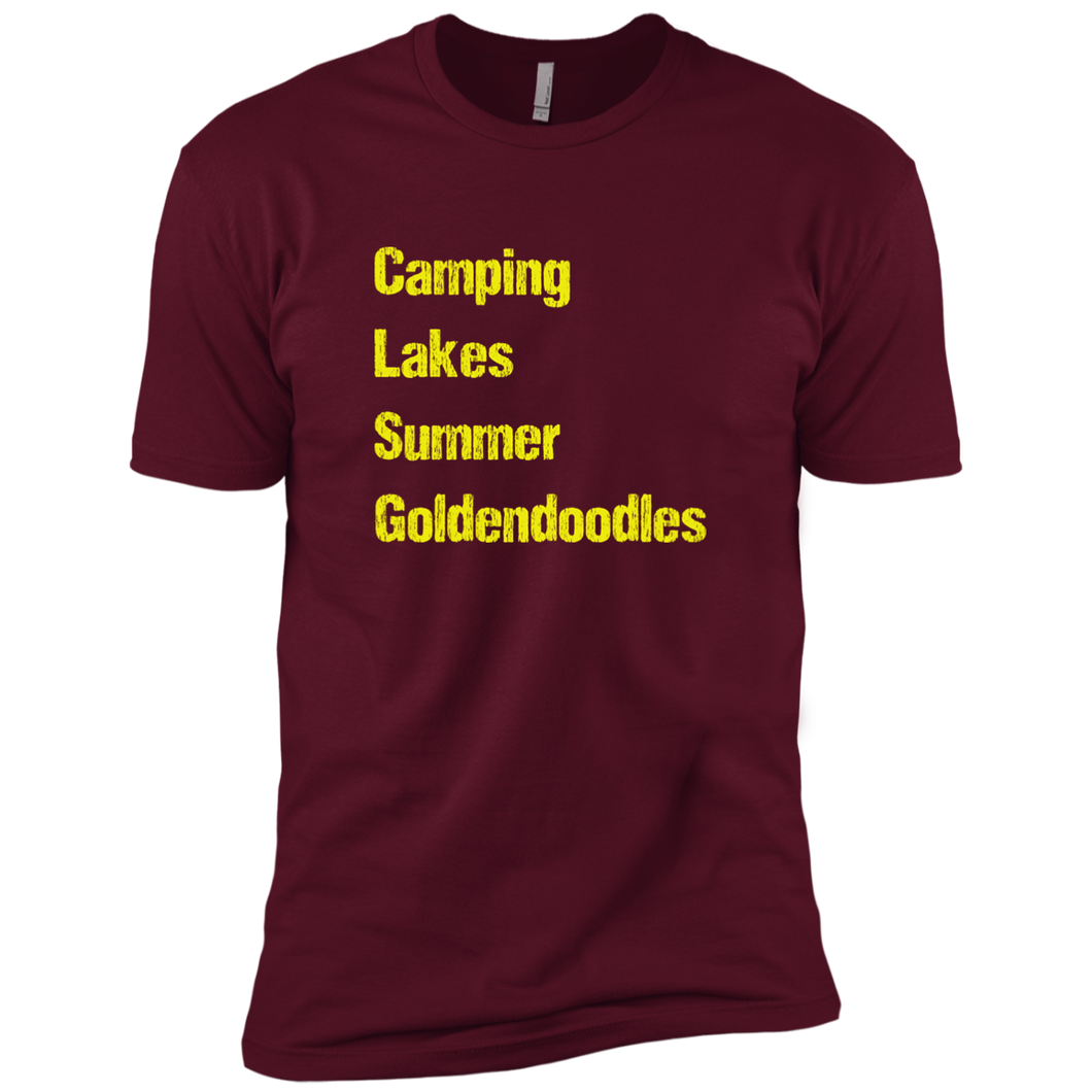 Goldendoodle Camping Premium Short Sleeve T-Shirt