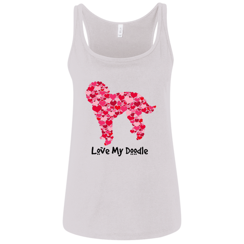 Doodle Hearts Ladies' Relaxed Jersey Tank