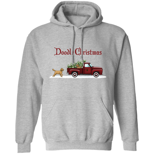 Christmas Doodle Pullover Hoodie 8 oz.