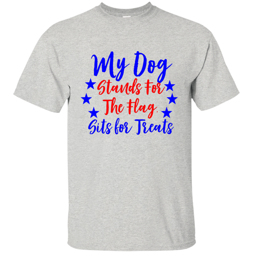 Patriotic Dog Cotton T-Shirt