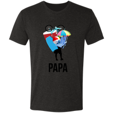 Papa carrying beach stuff Triblend T-Shirt