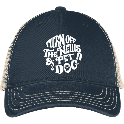 Turn Off the News and Pet a Dog Mesh Back Cap