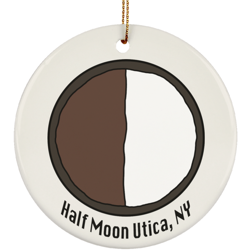 Utica Half Moon Ceramic Circle Ornament