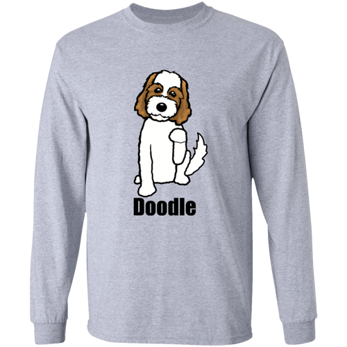 Brown and White Doodle LS Ultra Cotton T-Shirt