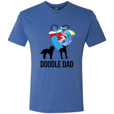 Doodle Dad Carrying Stuff Premium Triblend T-Shirt