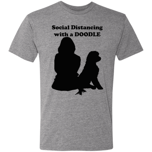 Social Distancing with your Doodle Triblend T-Shirt