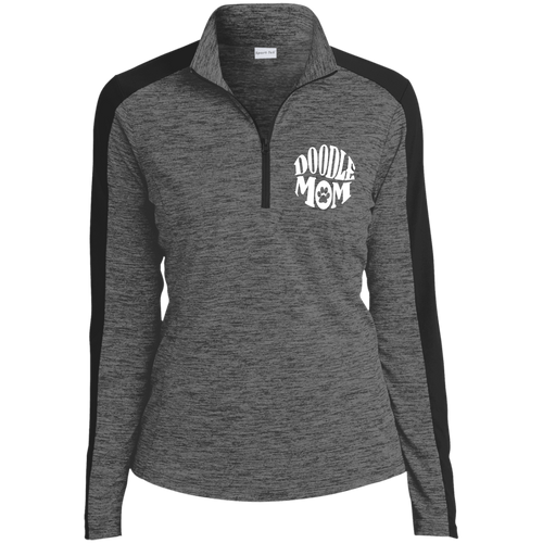 Doodle Mom Ladies' Electric Heather Colorblock 1/4-Zip Pullover