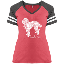 Flower Doodle Ladies' Game V-Neck T-Shirt