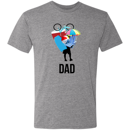 Dad Beach Triblend T-Shirt