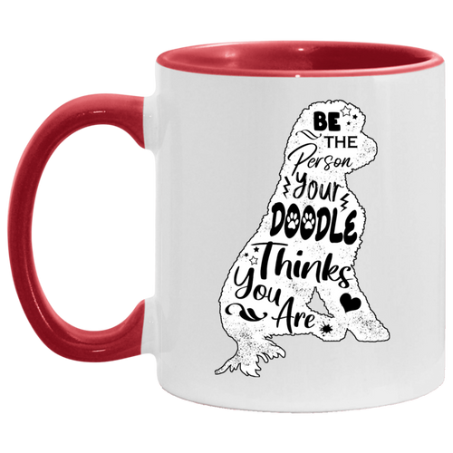 Be the Person Doodle Accent Mug