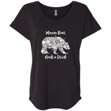 Mama Bear Needs a Drink Ladies' Triblend Dolman Sleeve