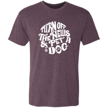 Turn off the News and Pet a Dog Triblend T-Shirt