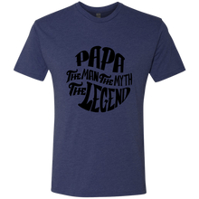Papa the Man the Myth Triblend T-Shirt