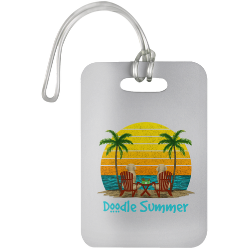 Doodle Summer Luggage Bag Tag