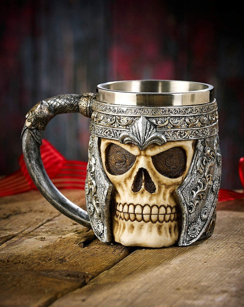 Skull Warrior Beer Mug