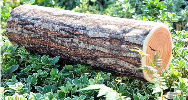 Green Log Pillow (Wood Grain)