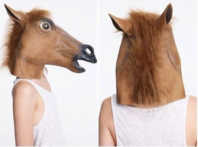 Latex Horse Head Mask