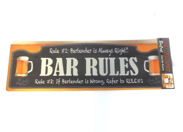 BAR RULES - Bar Runner