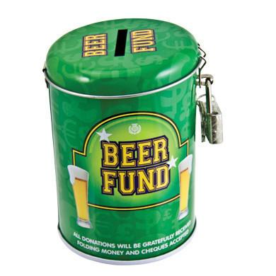 Beer Fund Tin - Money Box