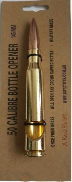 BOTTLE OPENER - 50 CALIBER BULLET (GOLD) 10 PACK