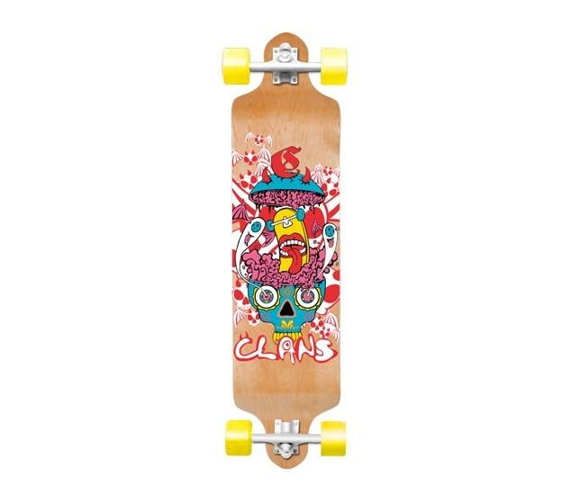 CLANS ' Crazy' Drop deck Longboard/Skateboard