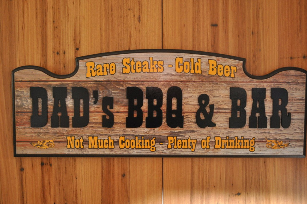 DAD's BBQ & Bar Sign - Great gift for Dad