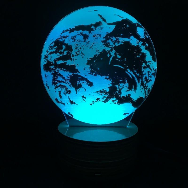 EARTH-3D Led Lamp (Multiple Colours)