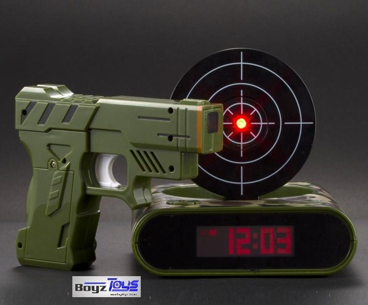 Laser Gun Alarm Clock (Army Green)