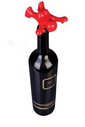 Happy Man Bottle Stopper (Red)