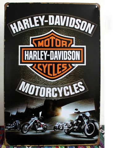 HARLEY Davidson Vintage Tin Bar Sign