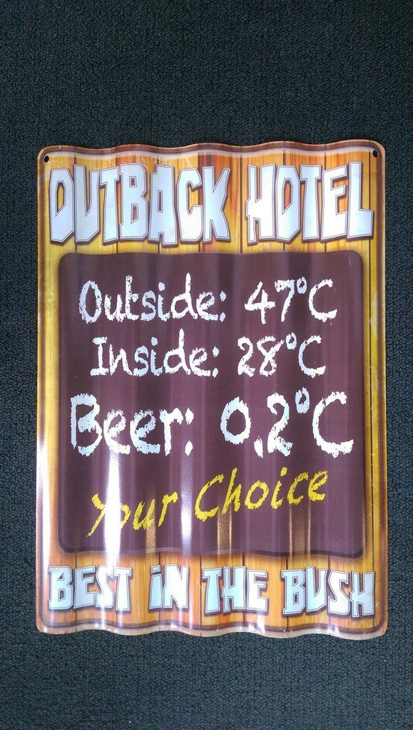 OUTBACK HOTEL TIN - Sign