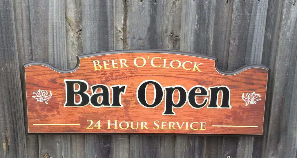 3D Bar Clock, 3D Bar sign