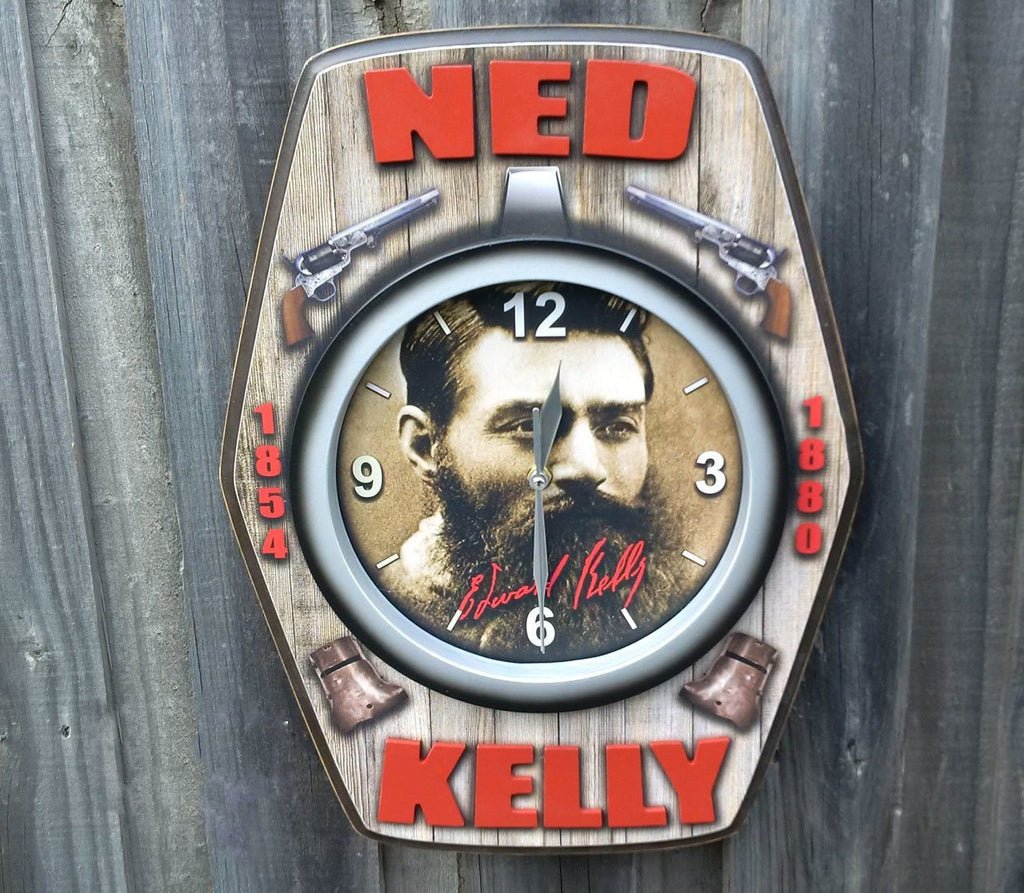 Ned Kelly 3D Bar Clock