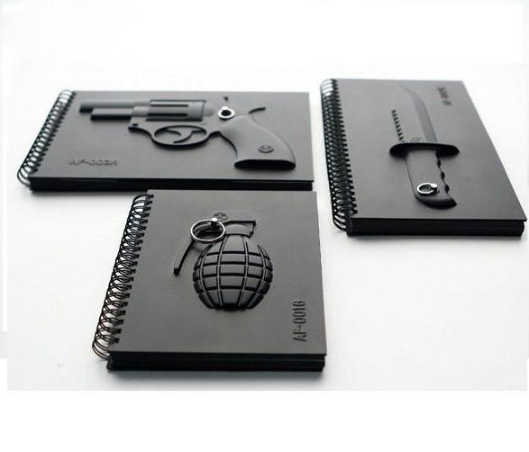 Armed Notebooks - 1 of each Grenade, Gun, Knife