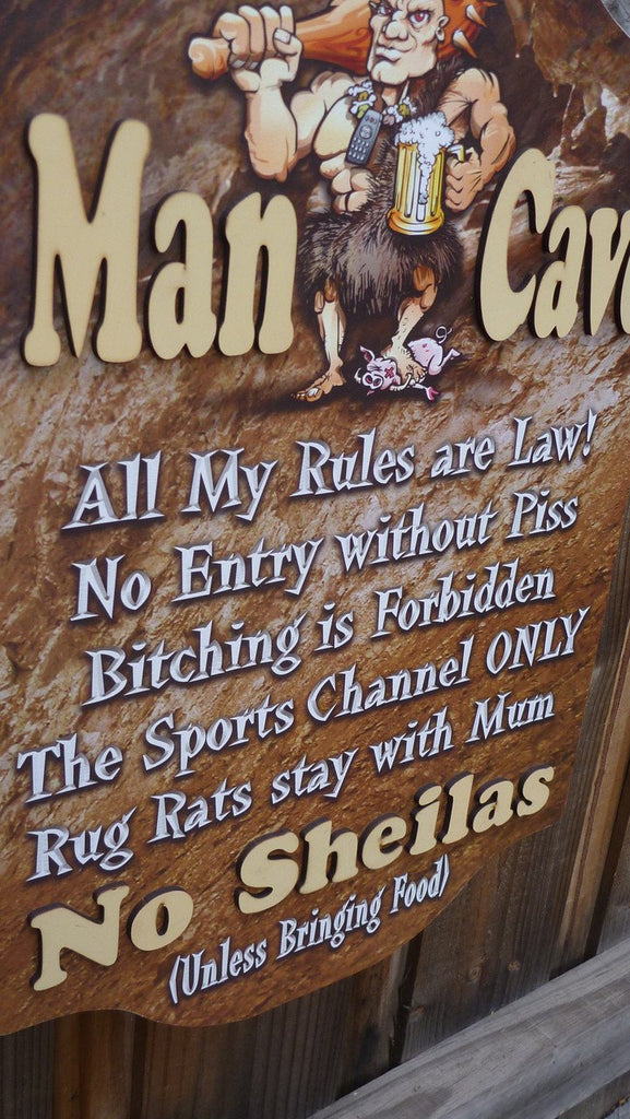 The Ultimate Man Cave Sign - Man Cave Rules