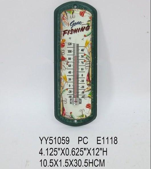 Metal thermometer 10.5X1.5X30.5CM