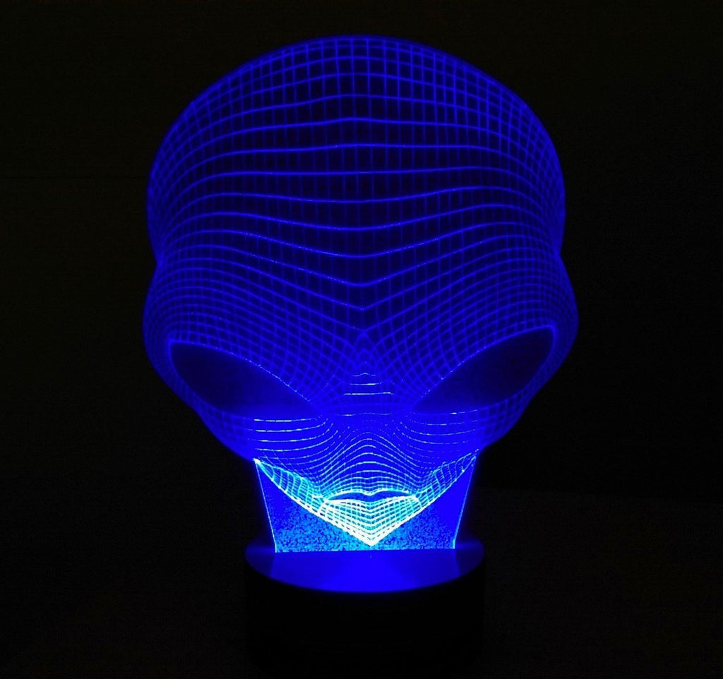 ALIEN - 3D Led Lamp (Multiple Colours)