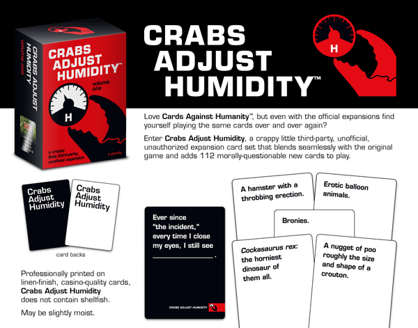 Crabs Adjust Humidity (Vol. 1-4) - Cards Against Humanity Expansion Packs