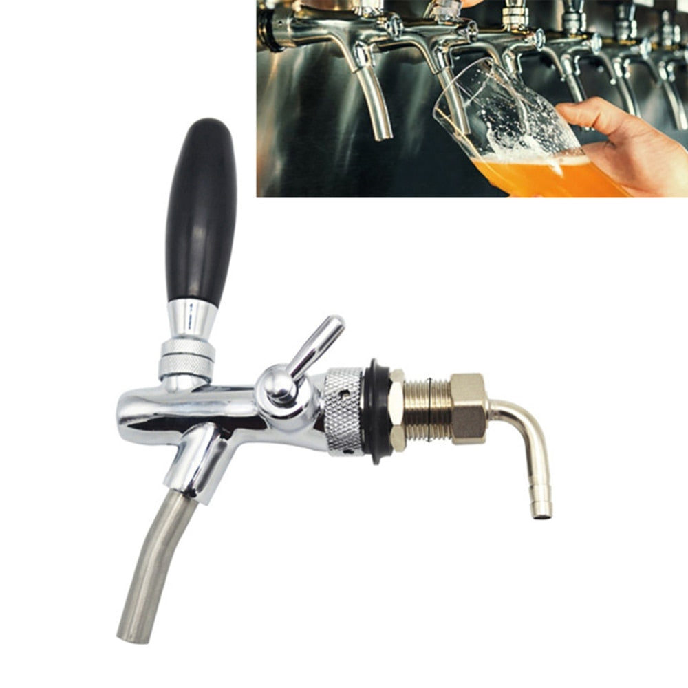 G5/8 Beer Faucet Draft Beer Faucet Shank With Chrome Plating Tap Dispenser Homebrew Barware