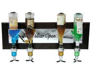 Wall Mounted Liquor Dispenser (4 Bottle)