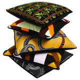 Lattice Square Cushion <b>Tangerine & Black</b>
