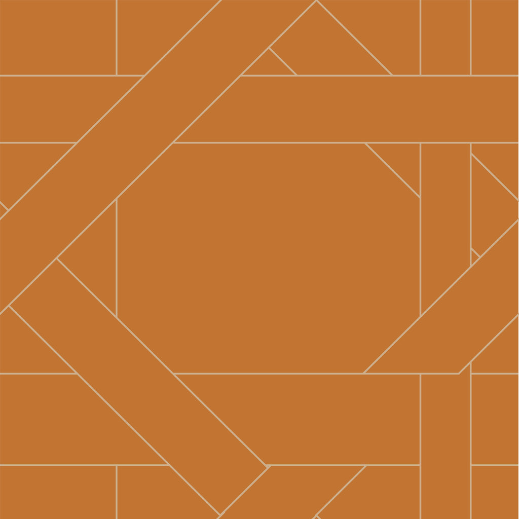 Lattice Fabric <b>Tan & Orange</b>