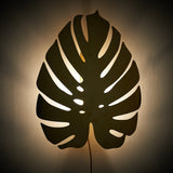 Large Gold Cheese Plant Wall Light