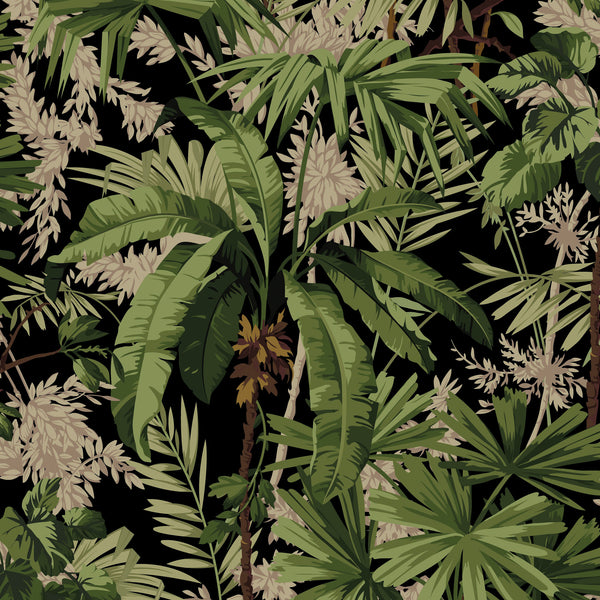 Jungle Fabric <b>Black</b>