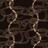 Snake Fabric <b>Black & Tan</b>