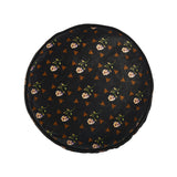 Rose & Moth Small Round Cushion <b>Lilac & Black</b>