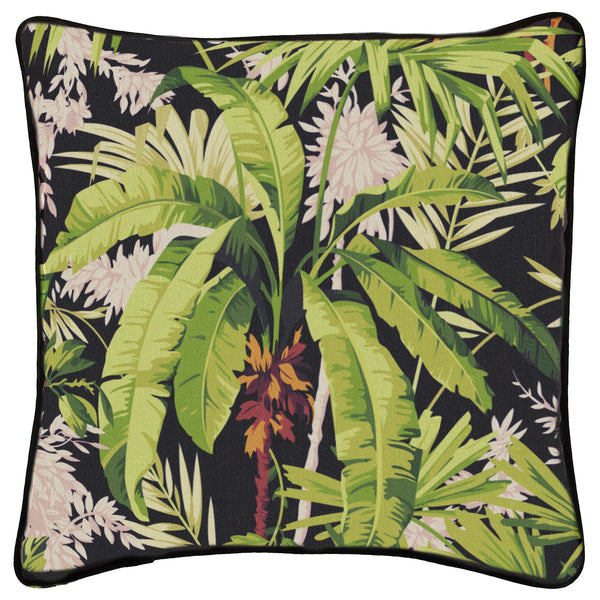 Jungle Medium Square Cushion <b>Black</b>