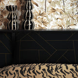 Lattice Fabric <b>Tan & Black</b>