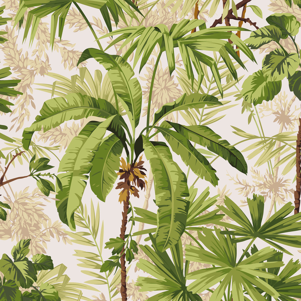Jungle Fabric <b>White</b>