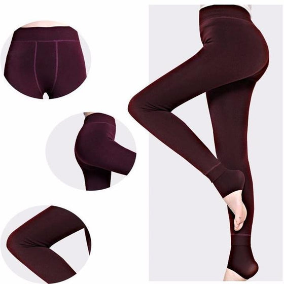 Warm Fleece Lined Winter Leggings [8 Variants]
